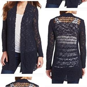 Lucky Brand Navy Blue Duster Cardigan Sweater S
